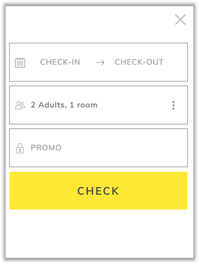 hotel booking form mirai