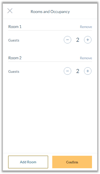 hotel insert room and guests