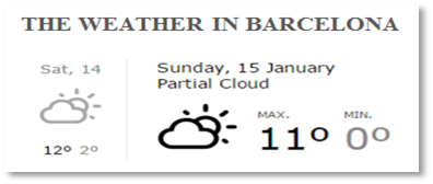 Weather in Barcelona thumbnail